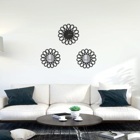 Modern living room interior Wall Psd Mockup